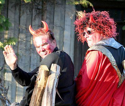 Zwei Teufel sind unterwegs zur Walpurgis in Schierke