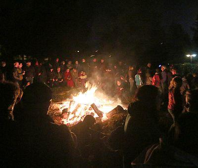 Lagerfeuer zur Walpurgis in Schierke