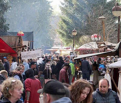 Marktstände zur Walpurgis in Schierke